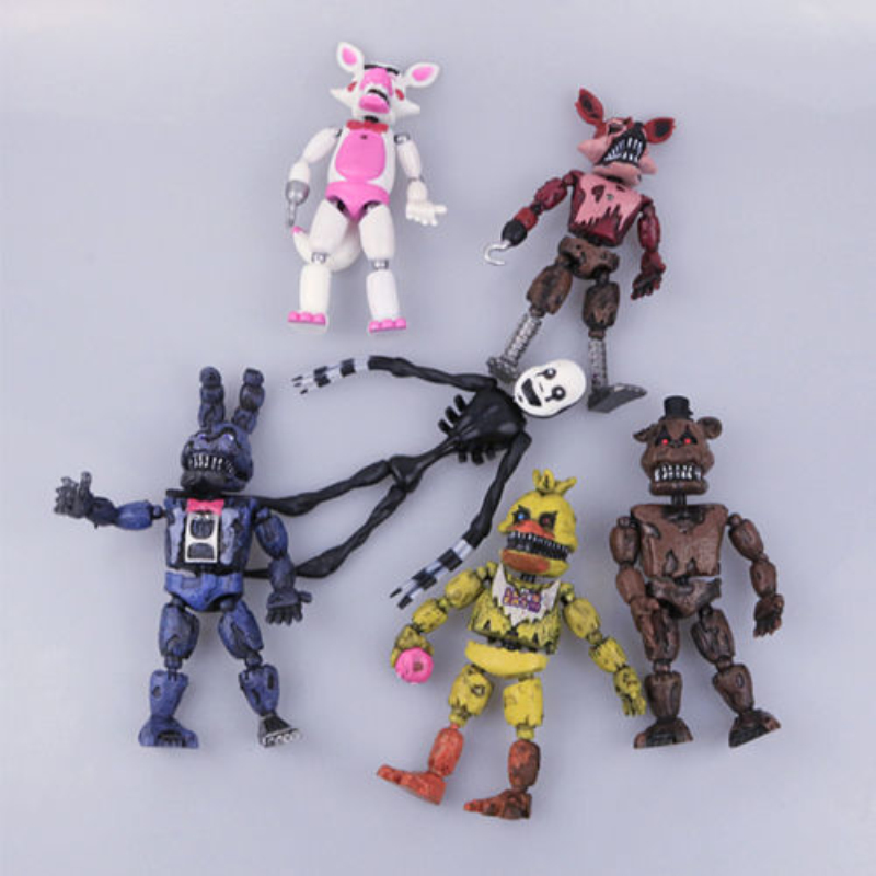6 Pcs/set 14.5-17cm PVC Five Nights At Freddy's Action Figure FNAF Bonnie Foxy Freddy Fazbear Bear Doll for Christmas Gift