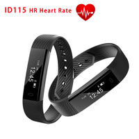 2017 New Smart Wristband ID115 HR Fitness Bracelet Heart Rate Monitor Smart Band for iphone Android pk xiaomi mi band 2 Fitbit
