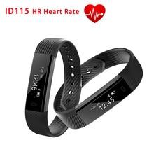 Новинка 2017 года смарт-браслет ID115 HR Фитнес браслет сердечного ритма Мониторы смарт-браслет для iPhone Android PK Xiaomi Mi band 2 fitbit
