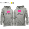 Casual Tops BFF She think I'm Crazy BFF I KNOW She's Crazy Printed Hoodies Couples Lovers sisters friends Sweatshirt Girl Women