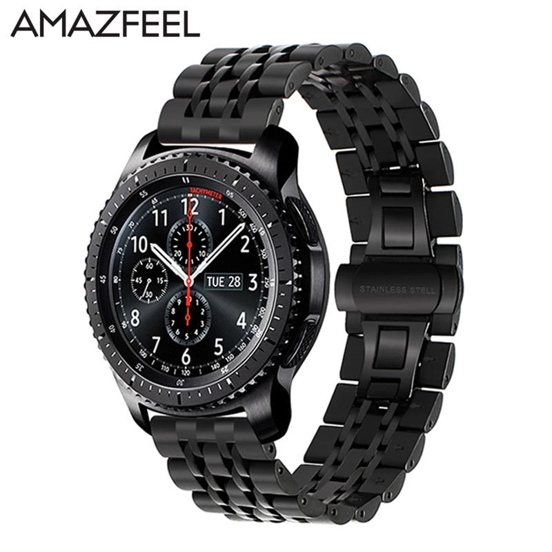 Bracelet Pour Xiaomi Huami Amazfit Bip Sangle 20mm Amazfit Rythme Sangle 22mm Acier Inoxydable smart watch strap band Huami stratos 2