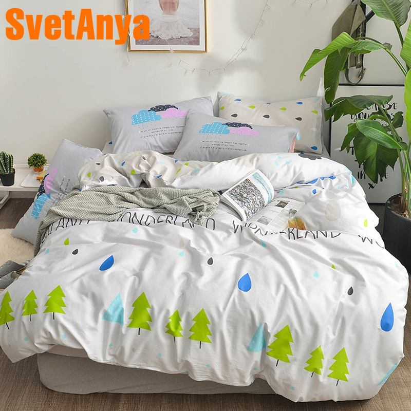 Svetanya printed Cotton Bedding Set 4in1 Single Double size LinensSvetanya printed Cotton Bedding Set 4in1 Single Double size Linens