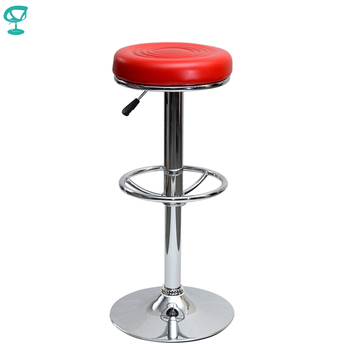 94785 Barneo N-128 Leather Kitchen Breakfast Bar Stool Swivel Bar Chair Red Color Free Shipping In Russia
