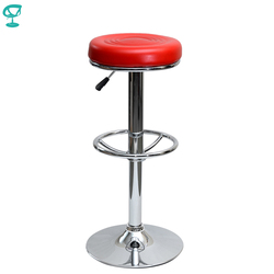 94785 Barneo N-128 Leder Küche Frühstück Barhocker Swivel Bar Stuhl rot farbe freies verschiffen in Russland