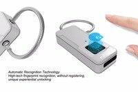 Anti Theft outdoor mobile bag lock Automatic Recognition lock Mini smart portable intelligent Fingerprint Lock