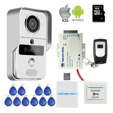 Envío Libre Wifi LAN 720 P IP de Intercomunicación Timbre Cámara de Acceso RFID Teléfono Video de La Puerta de Teléfono View Remote Unlock + fuente de Alimentación