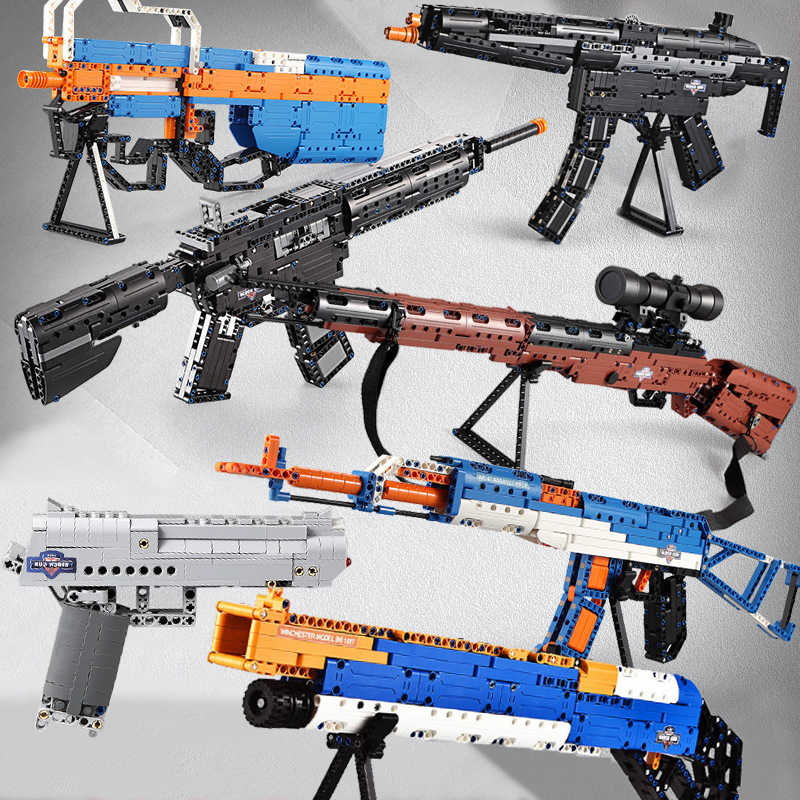 Legoeings Military 98K AK47 Sniper Rifle Desert Eagle Gun Model Blocks PUBG Sets SWAT Weapon Legoeings Technic Gun ww2 Toys Kids