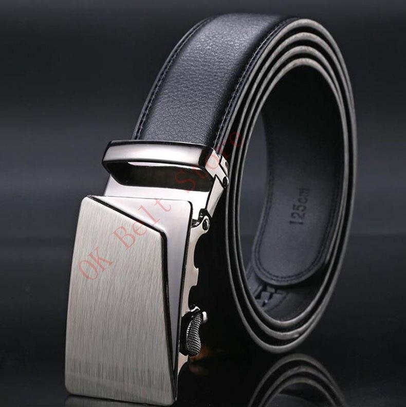 Enthusiastic Automatic Belts Men High Quality Leather Cinturones Hombre Ceinture Homme Luxe Cinto Cintos Para Homens Black Brown Belts B15 Apparel Accessories