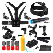SHOOT for Gopro Accessories Set kits with Selfie stick Harness Strap Mount For Gopro 5 4 Xiaomi Yi 4k 2 SJCAM H9 Go Pro Hero 4 3