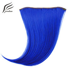 jeedou Pure Color Natural Invisible Hair Bangs Extensions Synthetic Blue Gray Pink Red Colorful Colors Bang