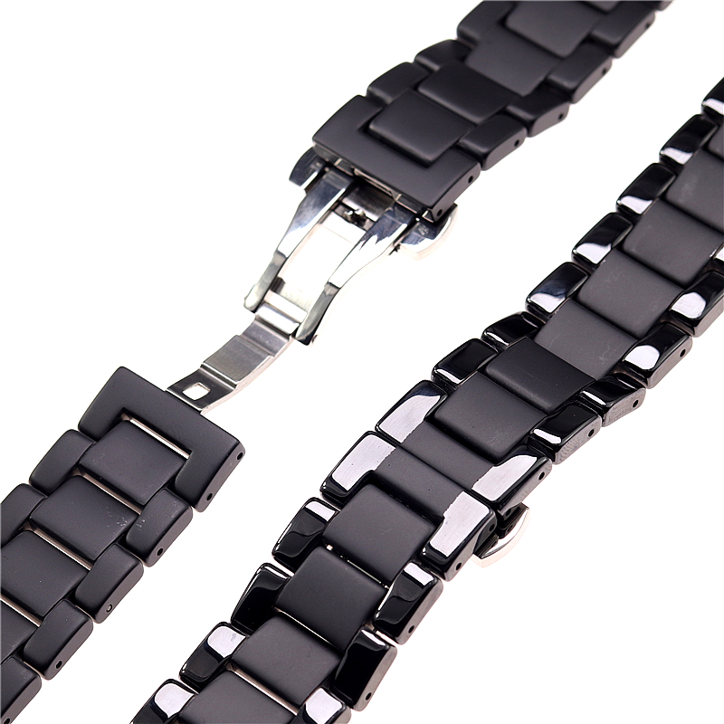 Image 5 - Ceramic watchbands For samsung gear s2 S3 band  20 22mm watch band  gear s3  watch strap huawei watch gt  galaxy watch 46mm42mm-in Watchbands from Watches