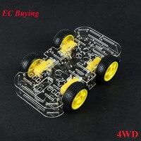 4WD Motor Smart Robot Car Chassis DIY Kit DC 3V 5V 6V Speed Encoder 4 Wheel Drive Car For Arduino