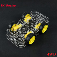 4WD Motor Smart Robot Car Chassis DIY Kit DC 3V 5V 6V Speed Encoder 4 Wheel Drive Car For Arduino