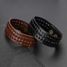 2019 New Weaving Genuine Leather Wing Bracelet Men Multilayer Punk Guitar Wrap Bracelets for Women Vintage Jewelry Gift
