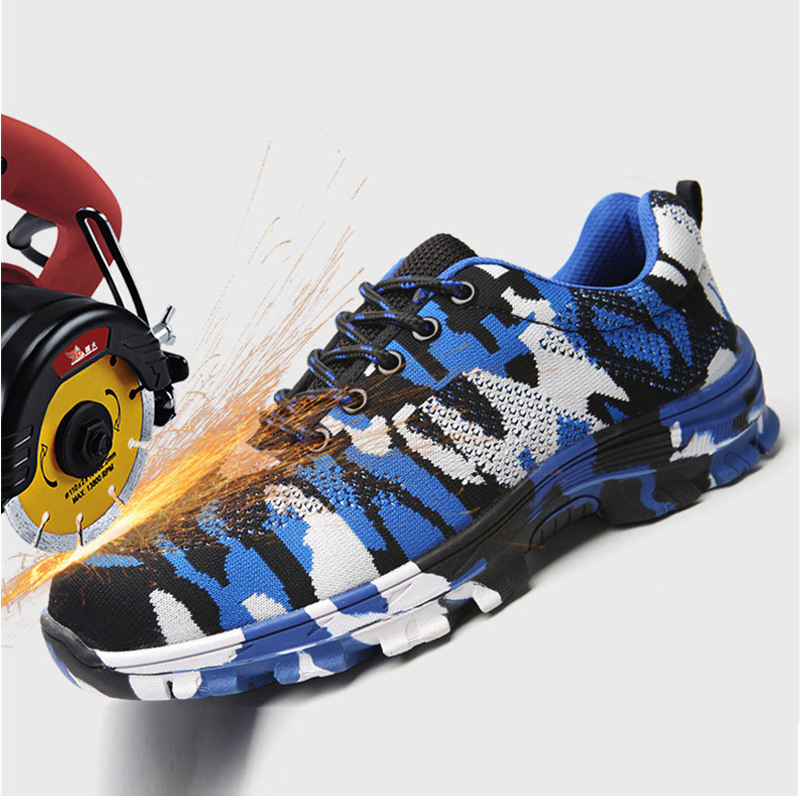 Safety shoes Air permeable smash proof puncture proof protective Footwear shoes indestructi working shoes men safety