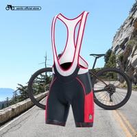Santic Men Cycling Bib Shorts 4D Coolmax Padded Bicycle Bike Clothing ciclismo bicicleta M 3XL K7MC028
