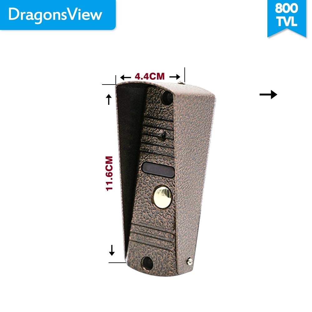 Dragonsview 7 pulgadas Video de la puerta del sistema de intercomunicación teléfono Blanco/negro de Video de la puerta de entrada Panel intercomunicadores para casa privada llamada panel - 6