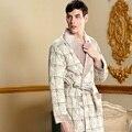 Большой размер зима мужской халат связанный хлопок утолщение хлопка мягкий халат сверхдальние хлопка мягкой халаты мужской тезисы