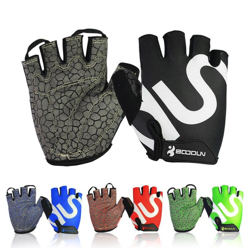 2017 Hot Sale Half Finger Bike Gloves Non-slip Gel Pad Bicycle Gloves 4 Colors Women Men Sport Fitness Gloves S M L XL 2XL Black