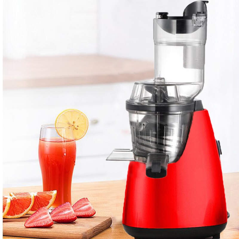 GERMAN Motor Technology New Large Mouth Slow Juicer Fruit Vegetable Citrus Low Speed Juice Extractor  new hurom slow juicer hue21wn fruits vegetable low speed juice extractor make ice cream juicer