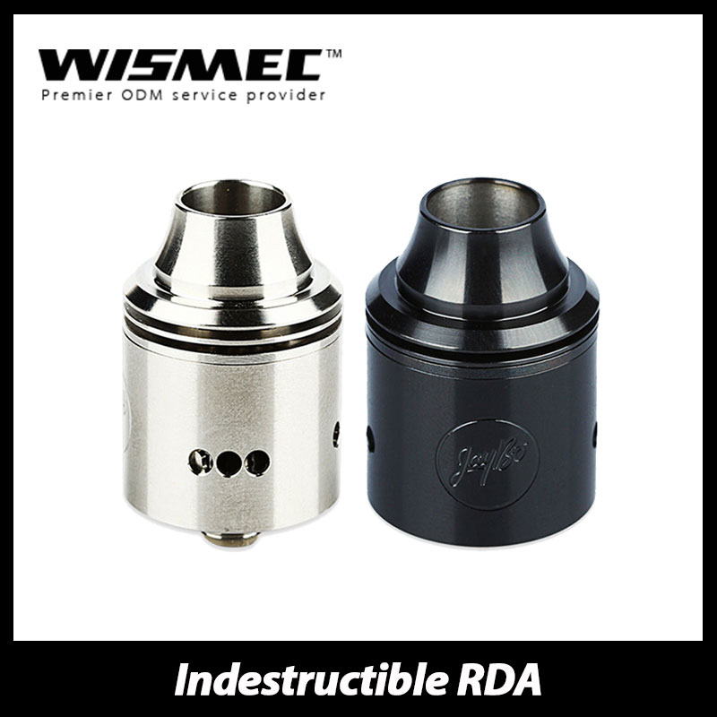 Hotsale Wismec Indestructible RDA Rebuildable Atomizer Kit Electronic Cigarette RDA Atomizer Fit for Noisy Cricket Mod