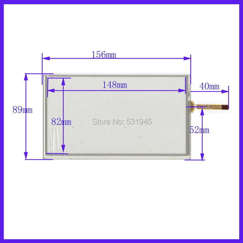 ZhiYuSun156mm*89mm New 6.2 Inch Touch Screen For 6.2 GPS The GLASS 156*89 For Tble Compatible HTB XWT579 For Soling  Gps Touch