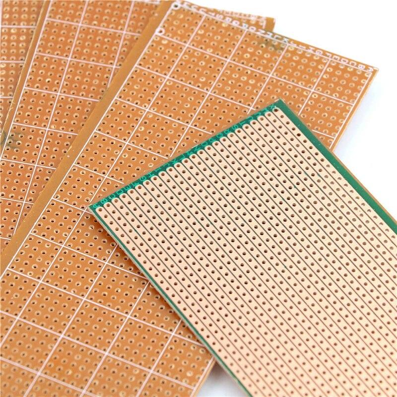 5pcs DIY Prototype PCB Board 6.5x14.5cm Stripboard Veroboard Uncut PCB Platine Single Side Circuit Board High Quality