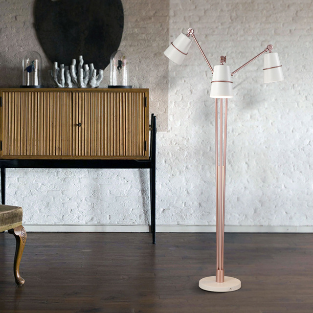 Minimalist Adjustable Multi-head Floor Lamp