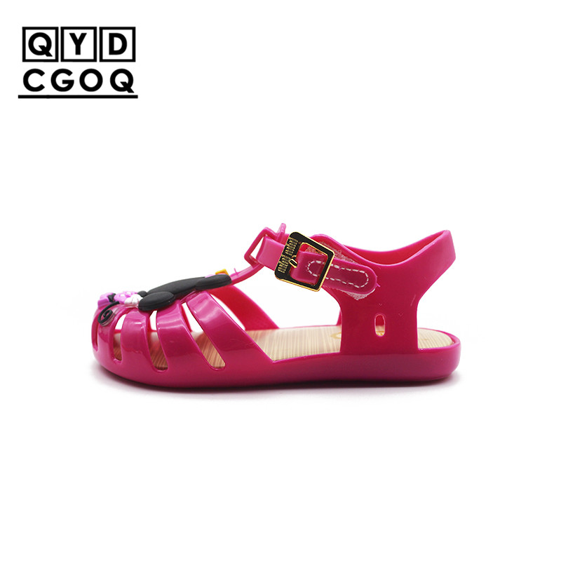 2cda7f290c1f9 Mini Melissa Style Mickey Minnie Rome Girls Jelly Sandals 2019 Lovely Girls  Sandals Kids Sandals Child Water Shoes High Quality