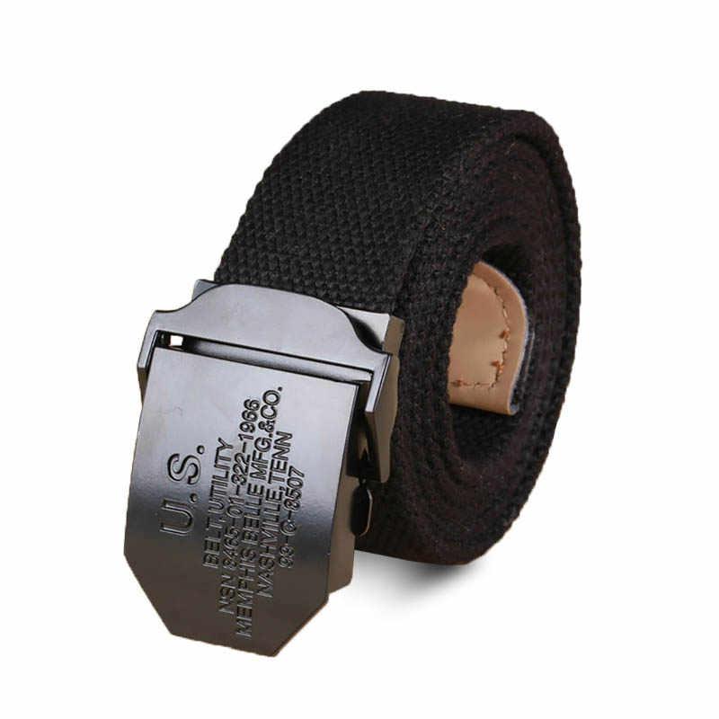 Marcas cinturones para Hombres Nuevo rayado adulto hombres ocasionales hizo  punto Cintos Femininos cinturón hombre lona f195f14e2497