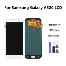 High Quality Lcd For Samsung Galaxy A5 2017 LCD A520 SM-A520F Display Digitizer Touch Screen Lightness Adjustable+Tools