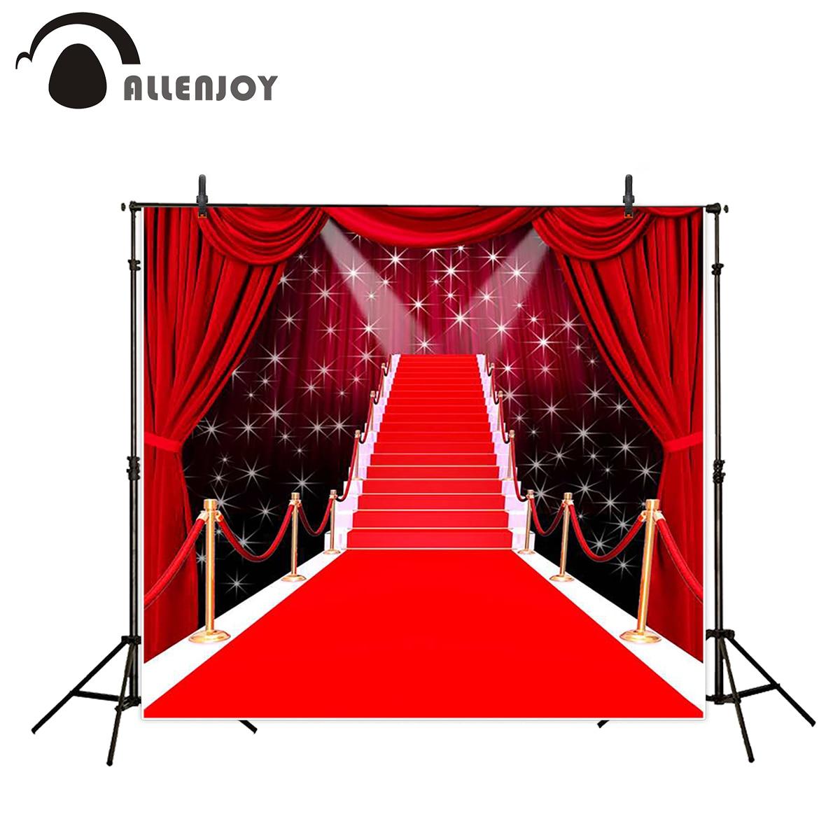 Allenjoy background photography long red carpet glitter wedding backdrops photocall fantasy props photobooth photo studio allenjoy photographic background pink stage halo glitter backdrops photobooth fantasy props cloth fabric photo studio