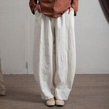 Johnature штаны-шаровары из хлопка и льна, женские брюки с эластичным поясом, весна, Новые лоскутные брюки с карманами, 6 цветов размера плюс, женские брюки