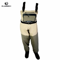 Light Weight Feather Fly Fishing Waders Chest Additional Durability In Suit Breathable Fishing Chest Breathable Overalls