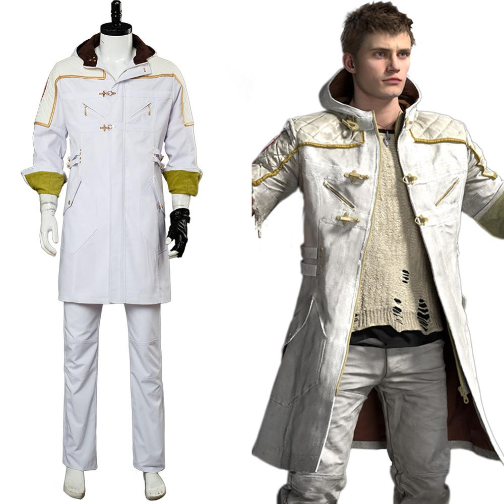 New Devil May Cry 5 V Cosplay Costume Vitale Trench+Wrister Halloween Customize