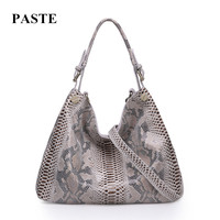 HOT Brand Design Women Cowhide Handbag Fashion Python Serpentine Pattern Bags Genuine Leather Shoulder Messenger Bag