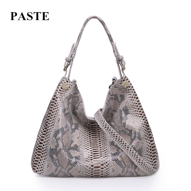 HOT Brand Design Women Cowhide Handbag Fashion Python Serpentine Pattern Bags Genuine Leather Shoulder Messenger Bag For Ladies 100% genuine leather women bags luxury serpentine real leather women handbag new fashion messenger shoulder bag female totes 3