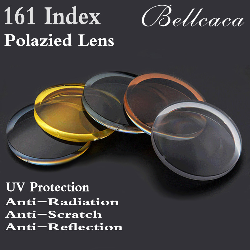 1 61 Index Aspheric Optical Polarized Sunglasses Prescription Lens CR 39 Myopia Presbyopia Lens Sun Glasses