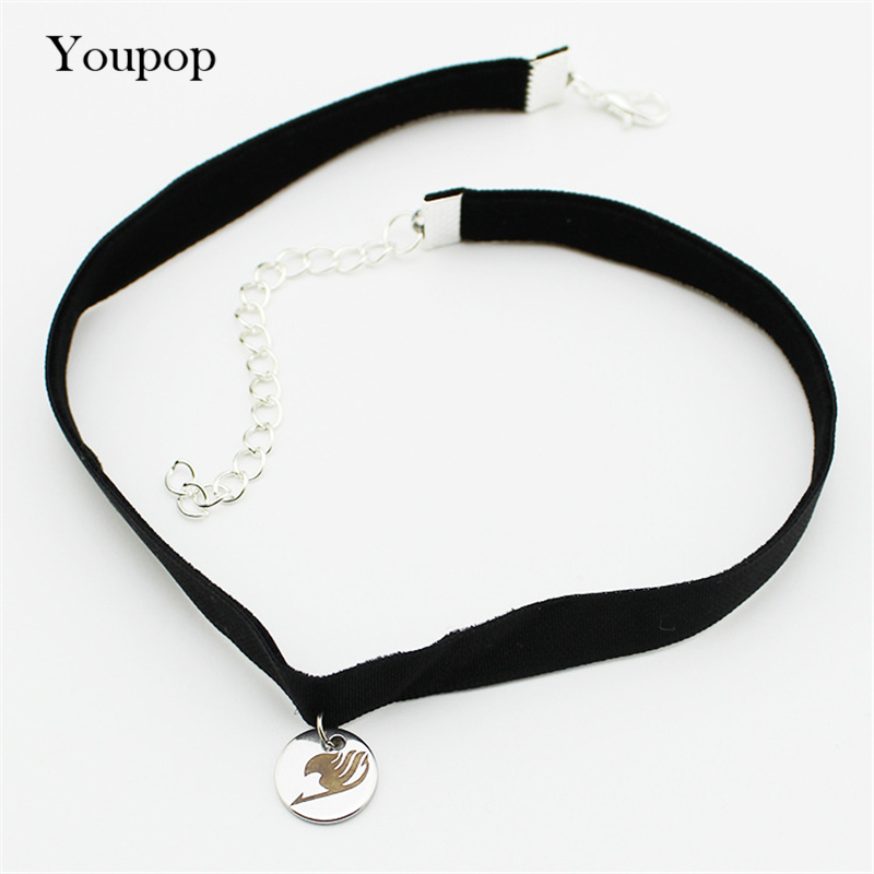 Youpop FAIRY TAIL Animation Cartoon Chokers Necklace New Fashion Jewelry Accessories Rock Collar For Men Women Boy Girl X5004