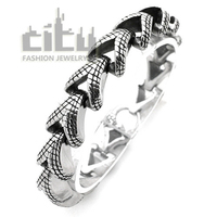 Hot Sale Occident Fashion Jewelry Stainless Steel Personality Rock Style Cool Men Bracelet Snake Chain Male