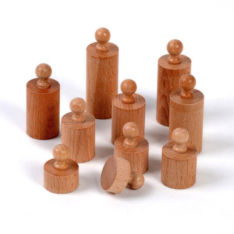Bébé Jouet Montessori Monocylindre 4 Sensorielle Formation Préscolaire Éducation de la Petite Enfance Brinquedos Juguetes - 5