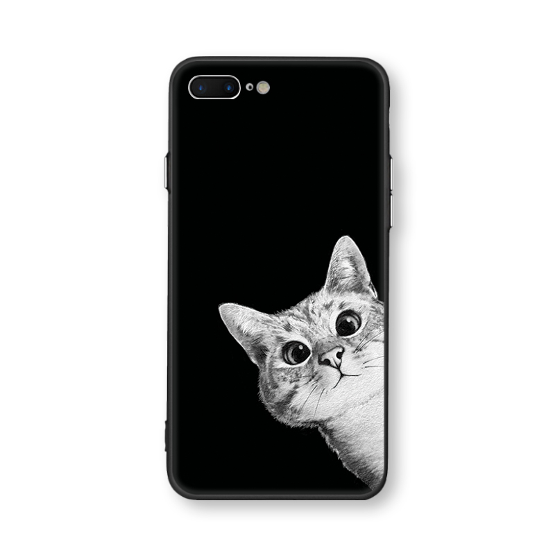 Case For iphone 6 6s 7 8 6 plus X XR XS MAX Space Moon Sun Flower Math Cute Cats Pandas Animal black Phone Cases Cover Bags in Fitted Cases from Cellphones Telecommunications