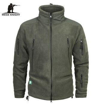 e1a27d606f9 Бренд Mege Костюмы пальто Для мужчин теплая в стиле милитари флисовая куртка  лоскутное несколько карманов Polartec Для мужчин куртка и пальто