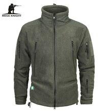 Бренд Mege Костюмы пальто Для мужчин теплая в стиле милитари флисовая куртка лоскутное несколько карманов Polartec Для мужчин куртка и пальто