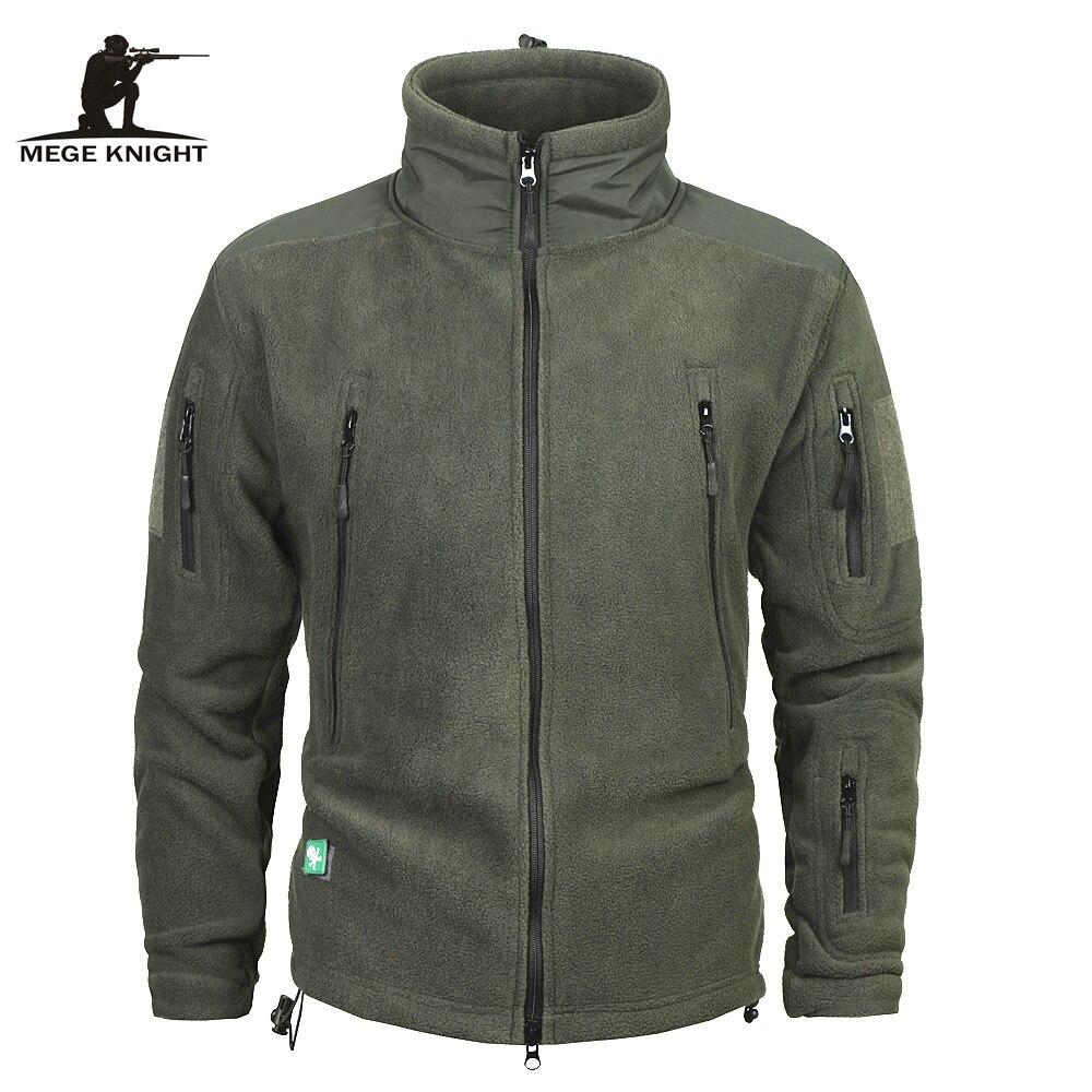 Mege ropa de marca de los hombres espesar cálido ejército militar chaqueta de lana Patchwork Multi bolsillos Polartec chaqueta de los hombres y abrigos