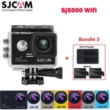 Оригинальный SJCAM SJ5000 Wi-Fi Novatek96655 30 м Водонепроницаемый Action Sports мини Камера автомобиль Mini DVR + дополнительные 2 Батарея + Dual USB Зарядное устройство