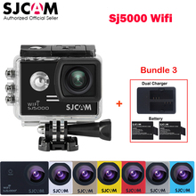 Original SJCAM SJ5000 WiFi Novatek96655 30M Waterproof Action Sports Mini Camera Car Mini DVR +Extra 2 Battery +Dual USB Charger