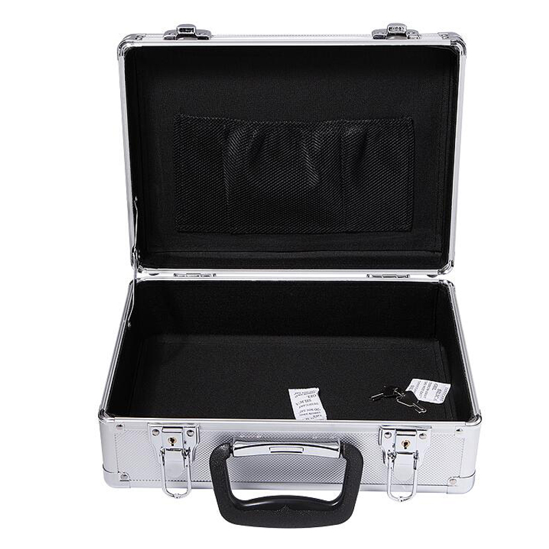 NEW Small Aluminium Safety Lock Case With Foam Insert Camera Video Case With Cutting Foam Tool Box