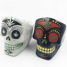 Human skeleton Band Fashion Mens Biker Punk Skull fancy Creative toys Skeleton model decor collection ornaments Ashtray Gift