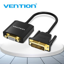 Vention DVI D untuk Adaptor VGA DVI 24 + 1 VGA Kabel Digital Analog Konverter Audio 1080P untuk xbox PS3 Laptop TV BOX 1 M(China)